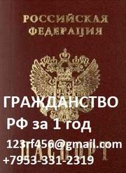 Помощь в получении гражданства РФ законно! в течении 1 года.